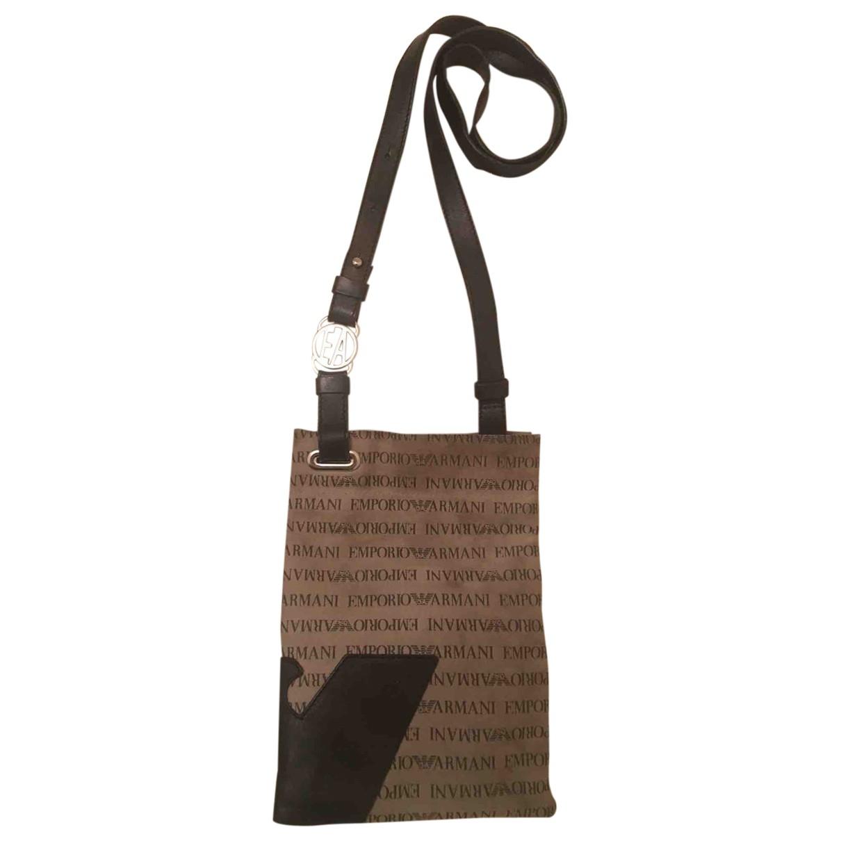 Emporio Armani \N Brown Cloth bag for Men \N
