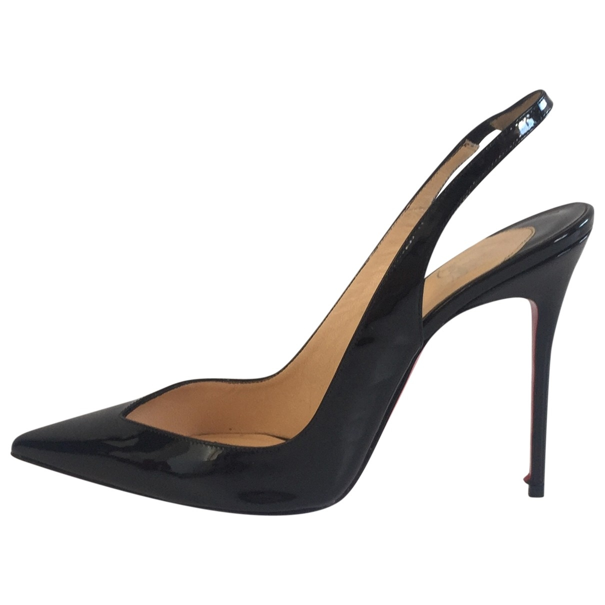Christian Louboutin \N Black Patent leather Heels for Women 40 EU