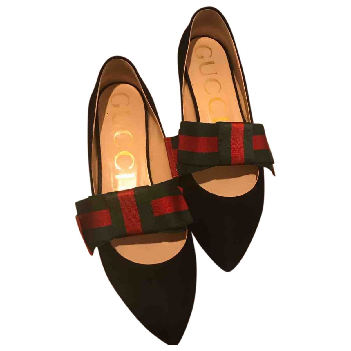 Gucci \N Black Leather Ballet flats for Women 40 EU