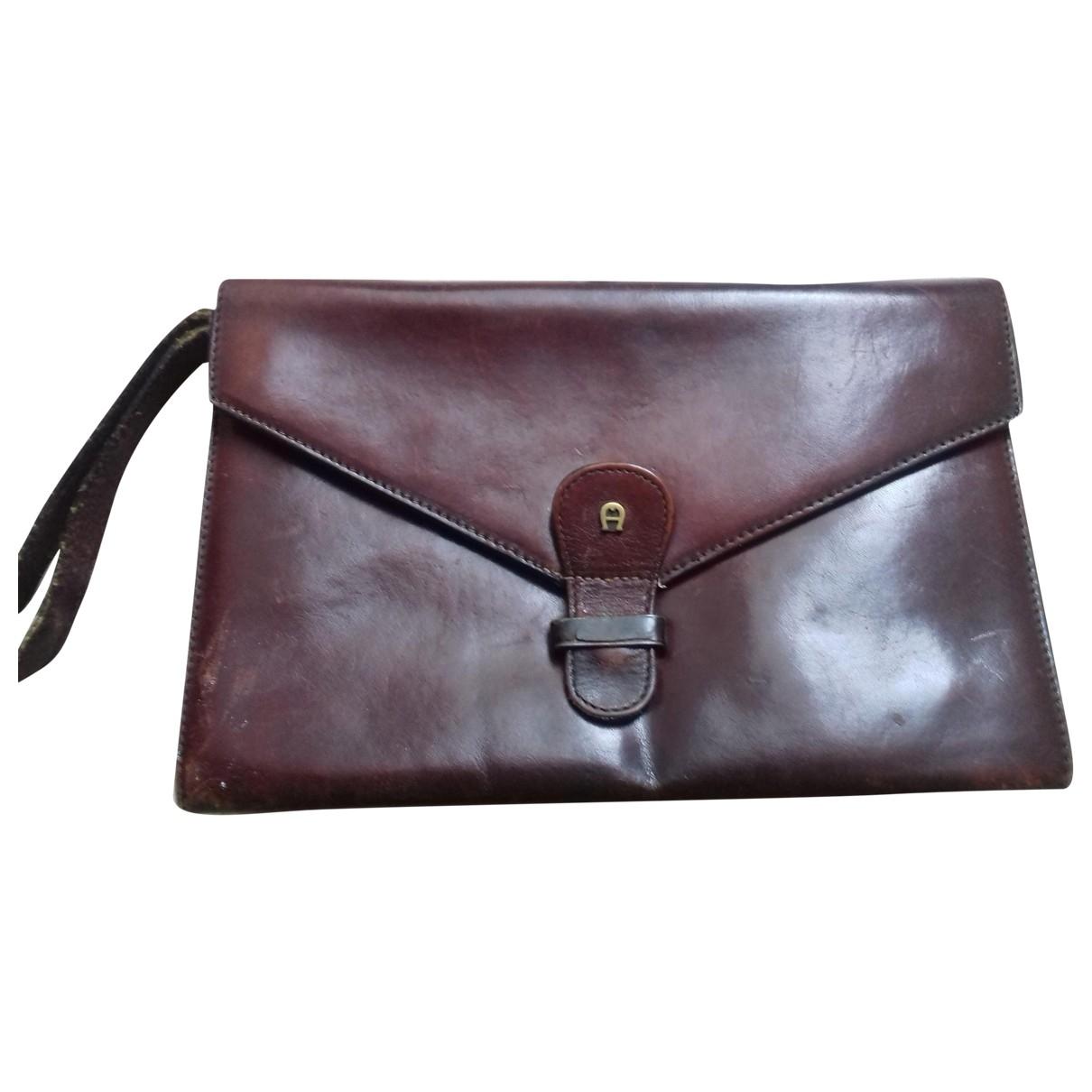 Etienne Aigner \N Burgundy Patent leather bag for Men \N