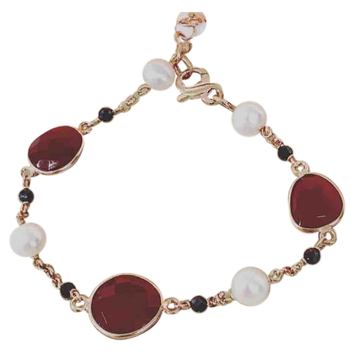 Non Signé / Unsigned \N Gold Silver bracelet for Women \N