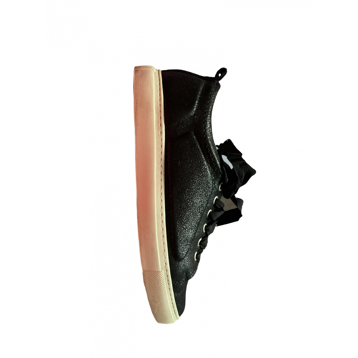 Lanvin \N Black Leather Trainers for Women 38 IT