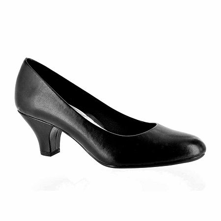 Easy Street Womens Fabulous Pumps Cone Heel, 9 1/2 Medium, Black
