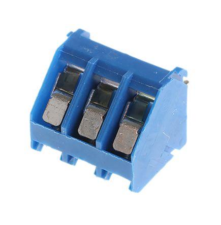 TE Connectivity , Buchanan 5mm Pitch, 3 Way PCB Terminal Strip, Blue (5)