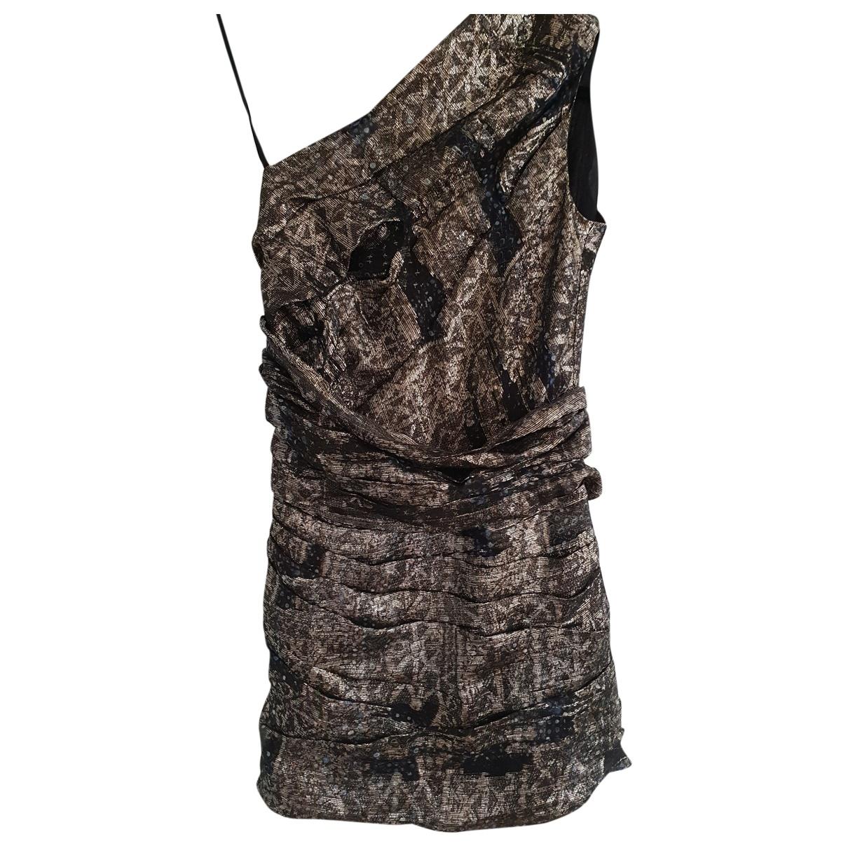 Isabel Marant \N Gold Silk dress for Women 36 FR