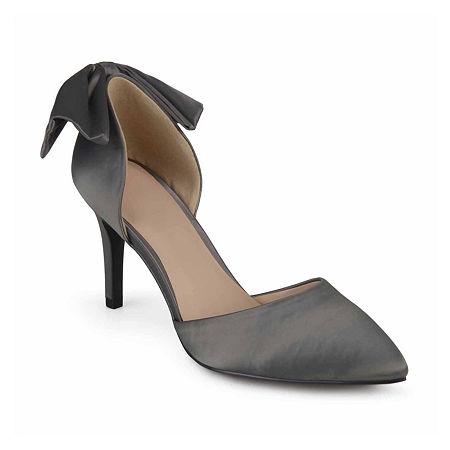 Journee Collection Womens Tanzi Pumps Stiletto Heel, 7 Medium, Silver
