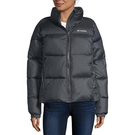 Columbia Puffect Puffer Water Resistant Heavyweight Ski Jacket, X-large , Black