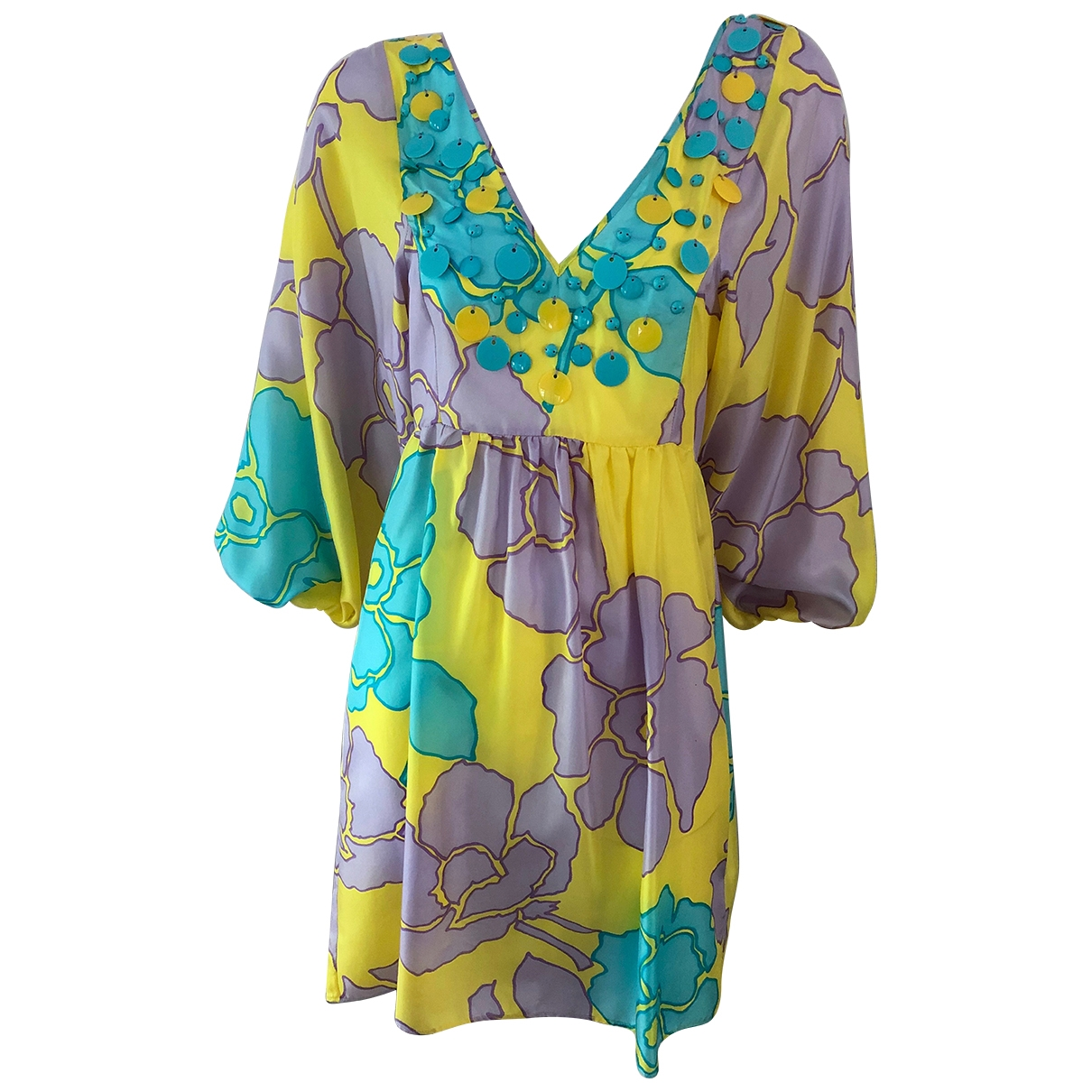 Blumarine \N Multicolour Silk dress for Women 42 IT