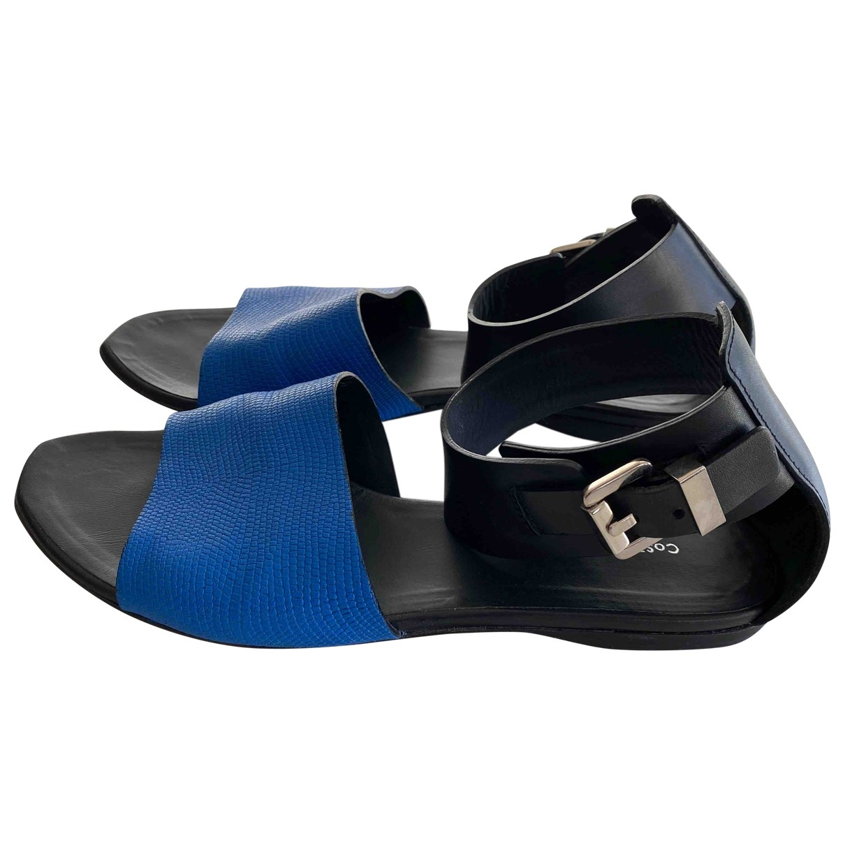 Costume National \N Blue Leather Sandals for Women 39.5 IT