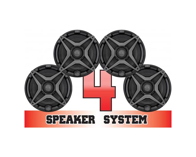 SSV Works COMMANDER-4 Complete 4 Speaker System Can-Am Commander Max 1000 LTD 15-16