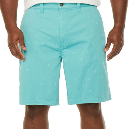 The Foundry Big & Tall Supply Co. Mens Chino Short-Big and Tall, 50 , Blue