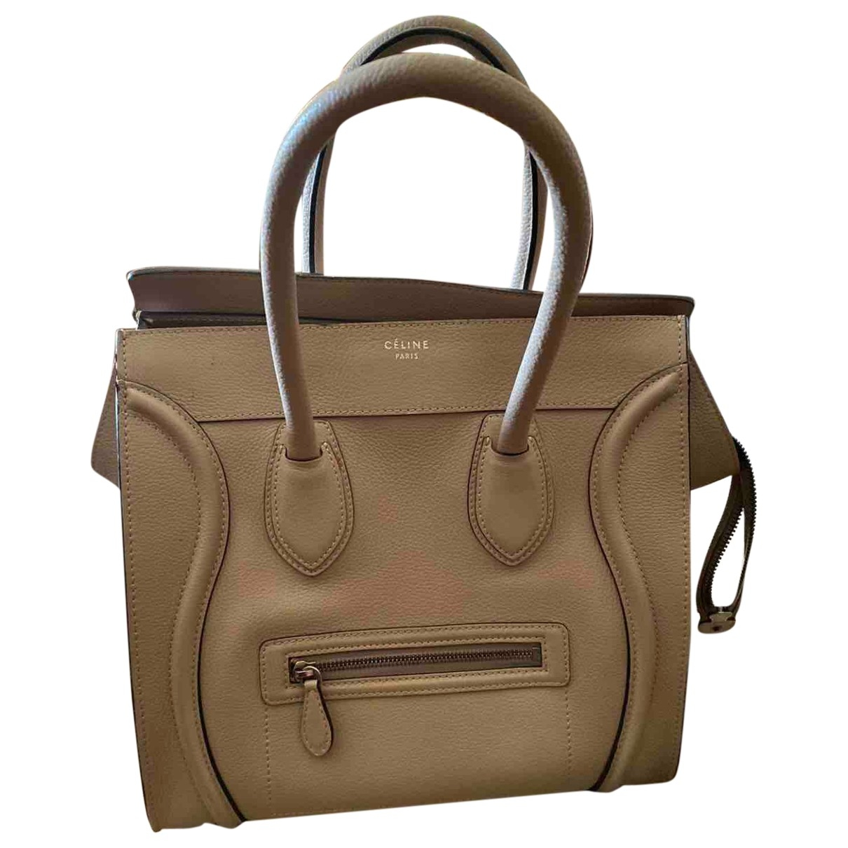 Celine Luggage Beige Leather handbag for Women \N