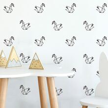 Kids Paper Crane Print Wall Sticker