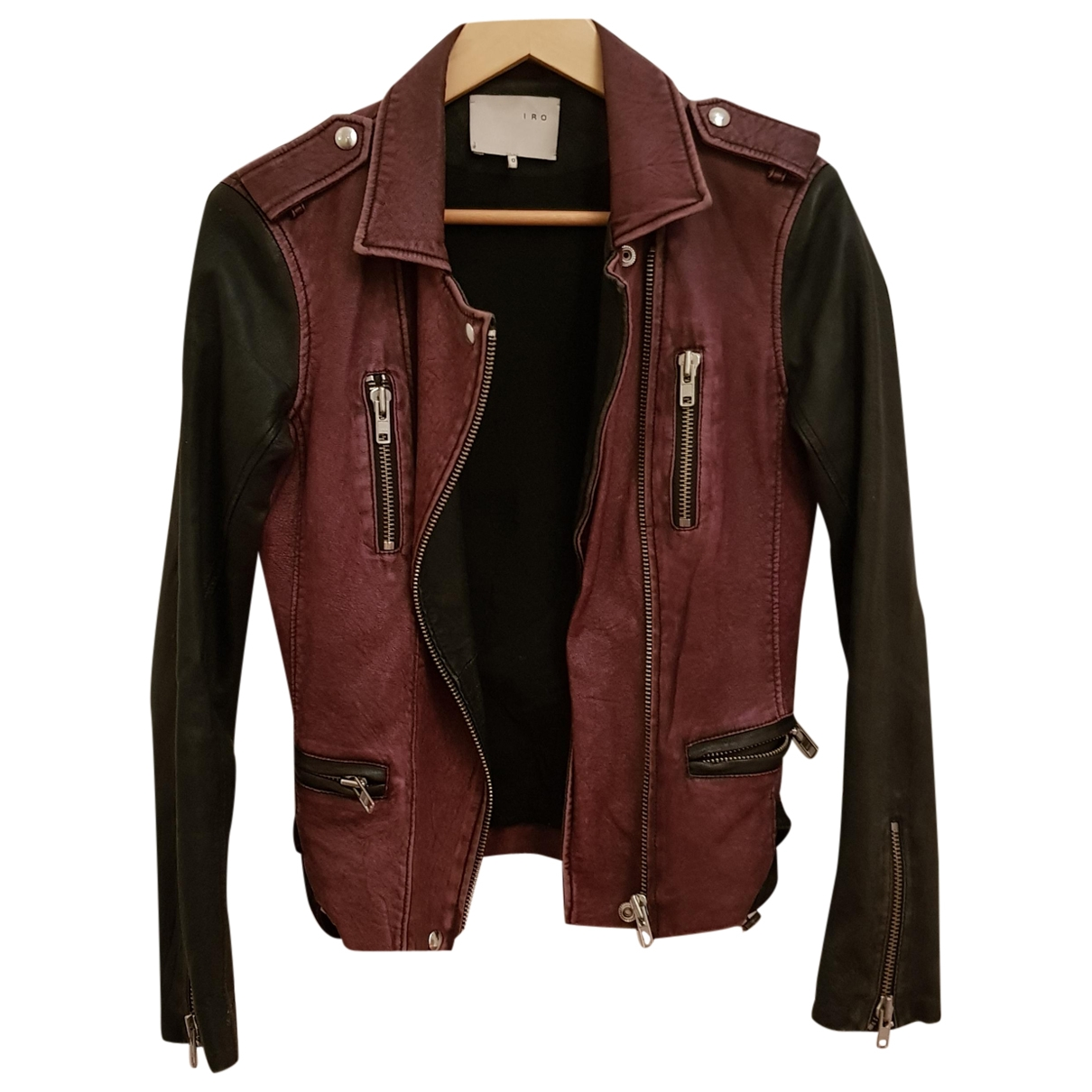 Iro \N Multicolour Leather Leather jacket for Women 1 US