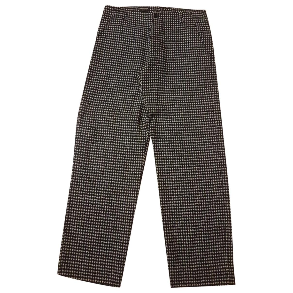 Giorgio Armani \N Grey Wool Trousers for Men 50 IT