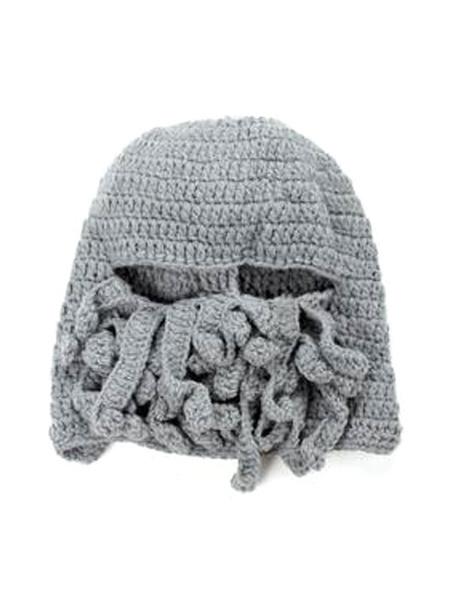 Milanoo Knit Beard Hat Beanie Hat Octopus Hat Windproof Winter Funny Hat
