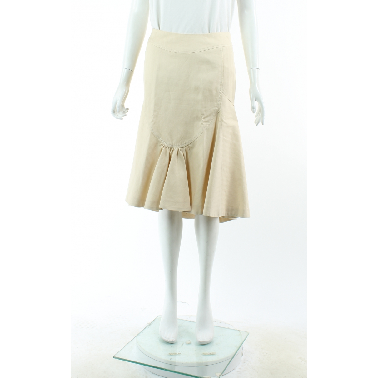 Kenzo \N Ecru Cotton skirt for Women 40 FR