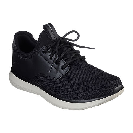 Skechers Mens Delson 2.0 - Weslo Oxford Shoes, 11 Medium, Black