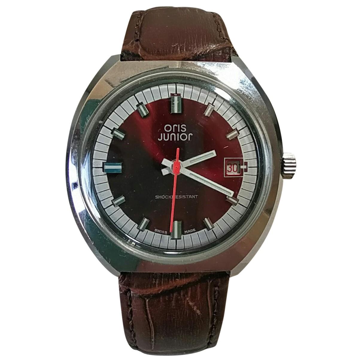 Oris \N Burgundy Steel watch for Men \N
