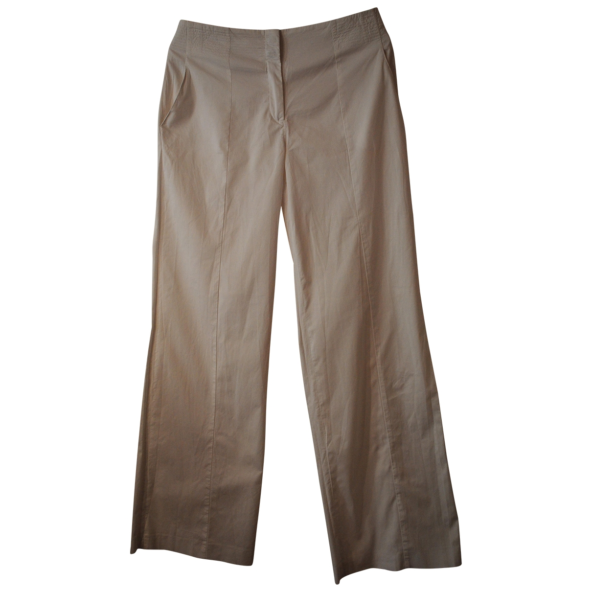 Jil Sander \N Beige Cotton Trousers for Women 38 IT