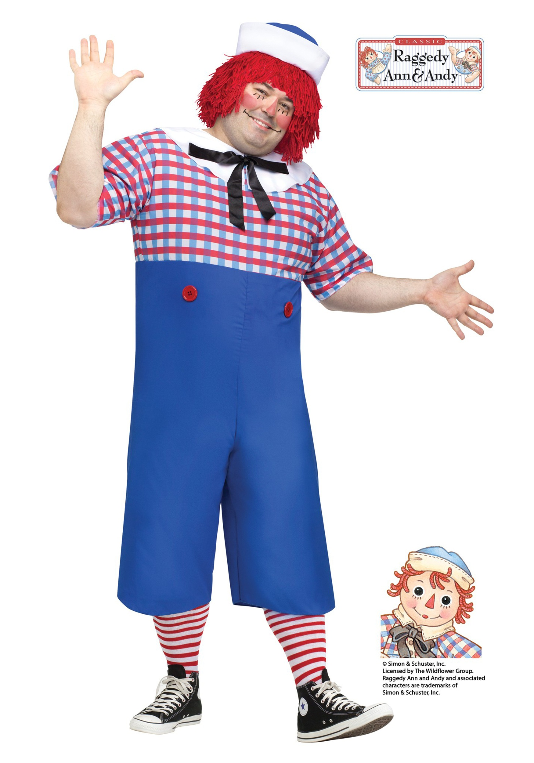 Men's Raggedy Andy Plus Size Costume