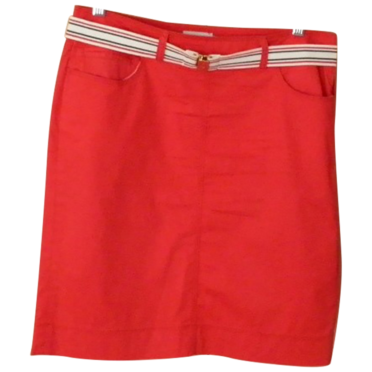 Moncler \N Red Cotton skirt for Women 42 IT
