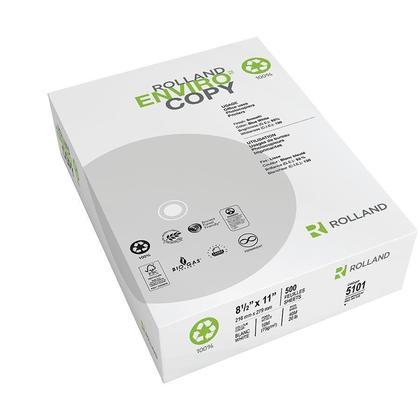 Enviro™ Papier Polyvalent Pour Copie, 20 lbs, 92 Brillant, Lettre, 500 Feuilles/Rame