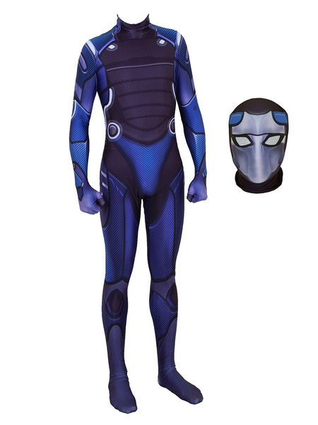 Milanoo Fortnite Cosplay Blue Omega Jumpsuit Cosplay Custome