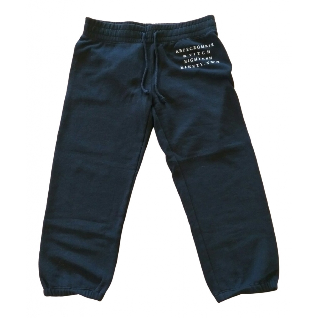 Abercrombie & Fitch \N Black Cotton Trousers for Women XS International