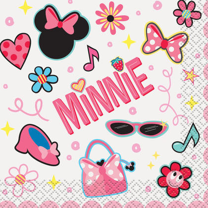 Minnie Mouse 16 Beverage Napkins Pour la fête d'anniversaire