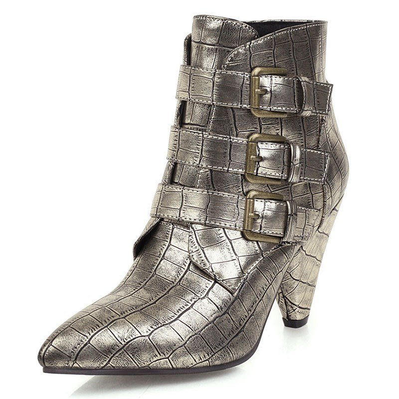 Ericdress Side Zipper Pointed Toe Plain Boots
