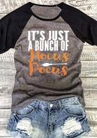 Halloween Hocus Pocus Baseball T-Shirt