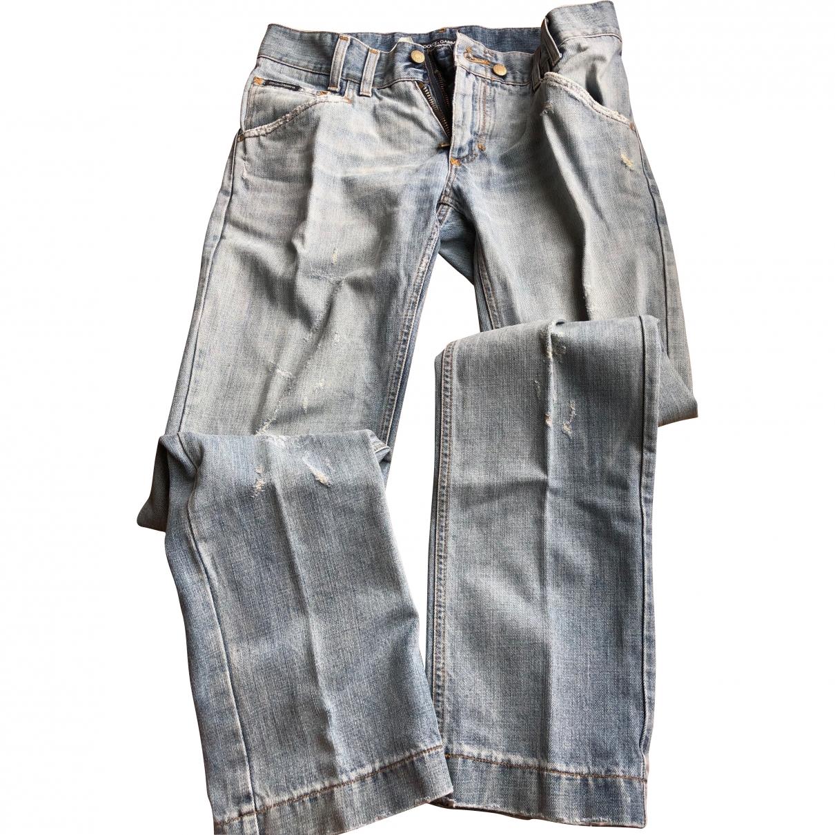 Dolce & Gabbana \N Blue Cotton Jeans for Men 46