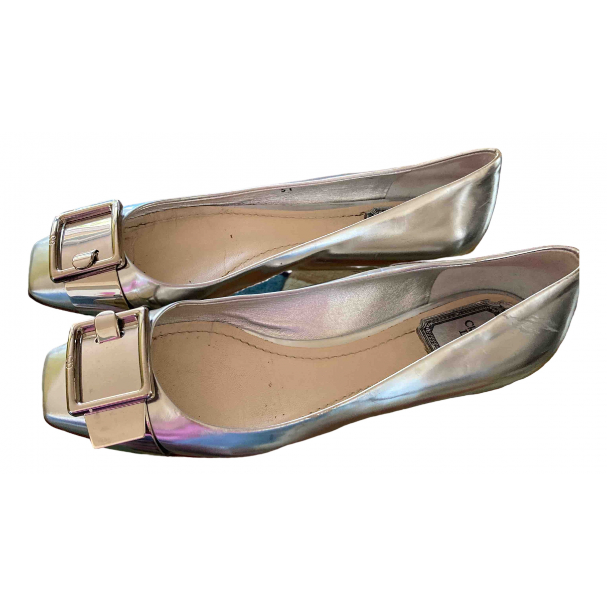 Dior \N Silver Leather Ballet flats for Women 37 EU
