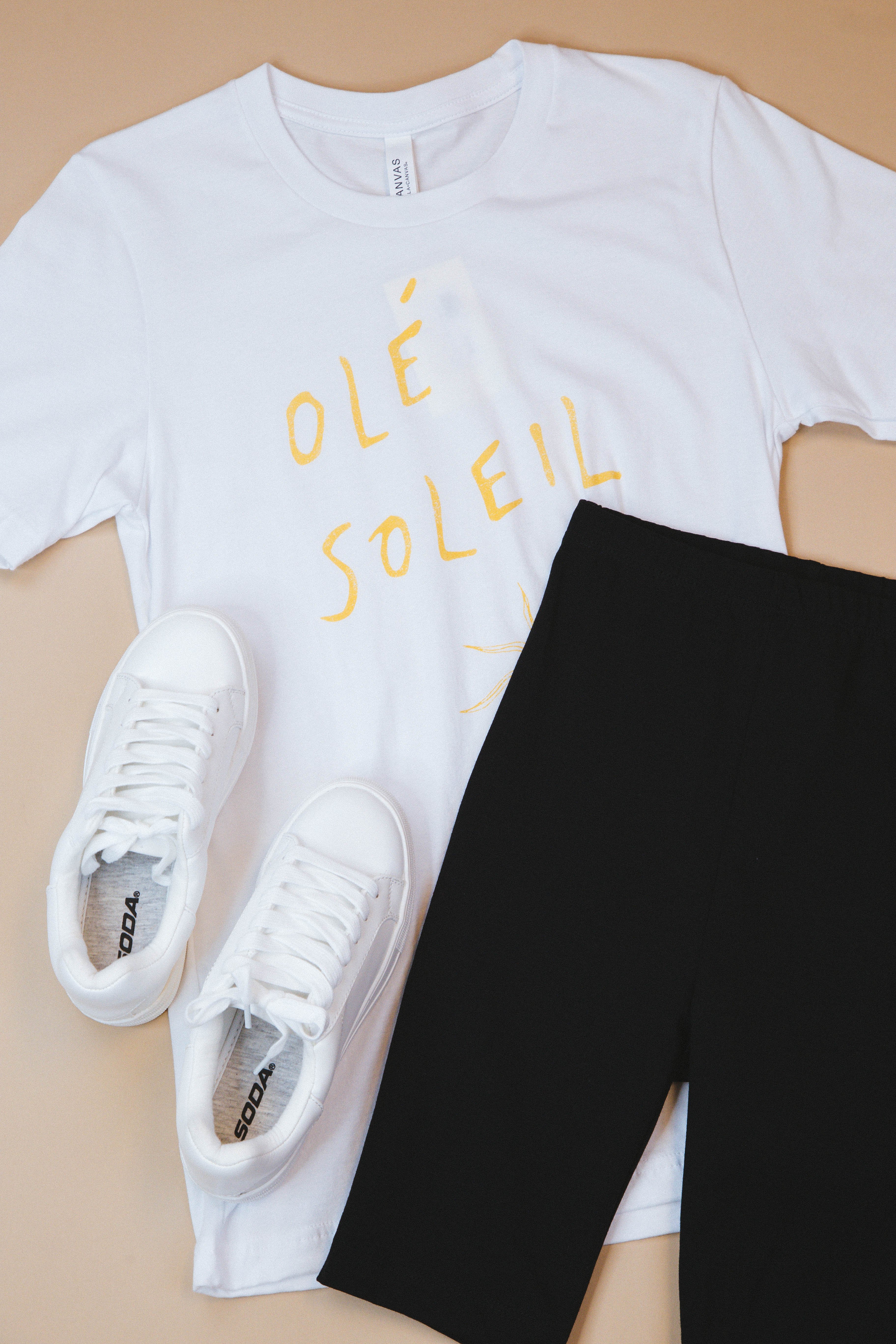 Ole Soleil Graphic Tee White