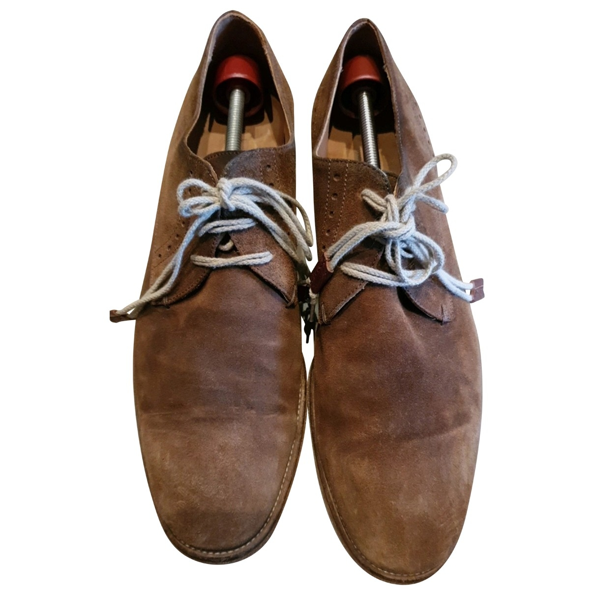 John Varvatos \N Camel Suede Lace ups for Men 42 EU
