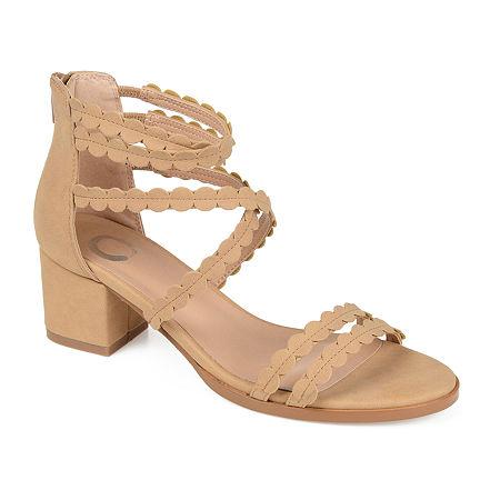Journee Collection Womens Jasiri Pumps Block Heel, 12 Medium, Beige
