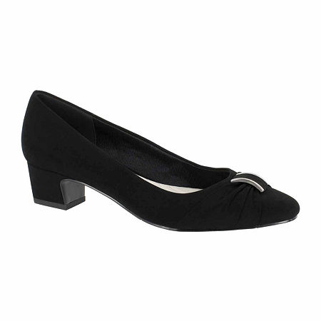 Easy Street Womens Eloise Pumps Block Heel, 6 Medium, Black