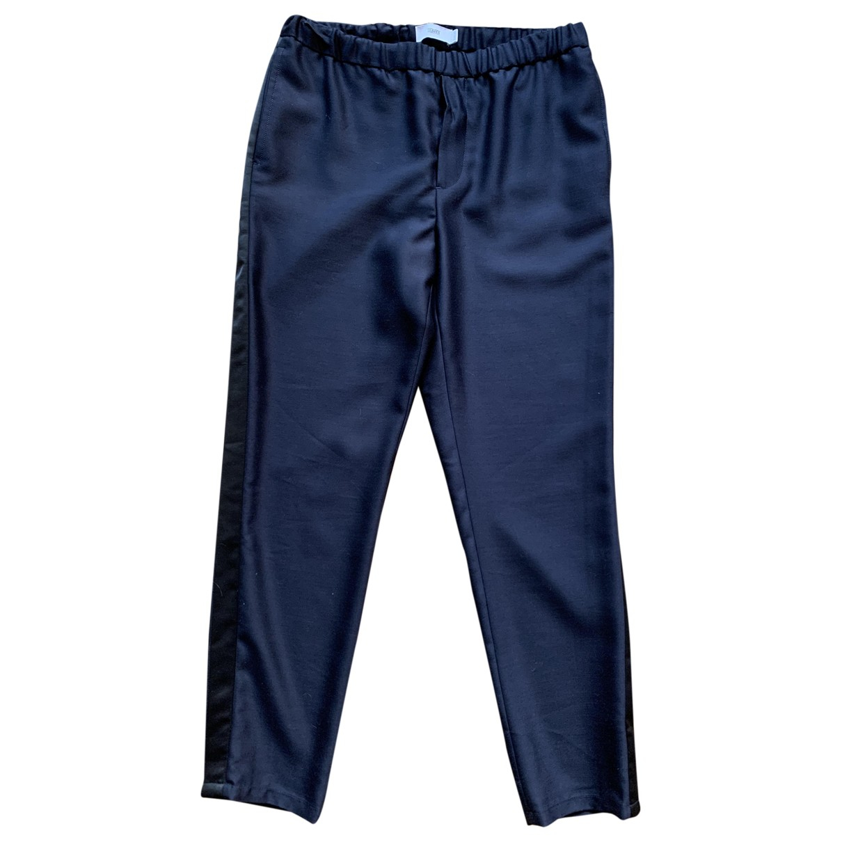 Closed \N Blue Wool Trousers for Women M International