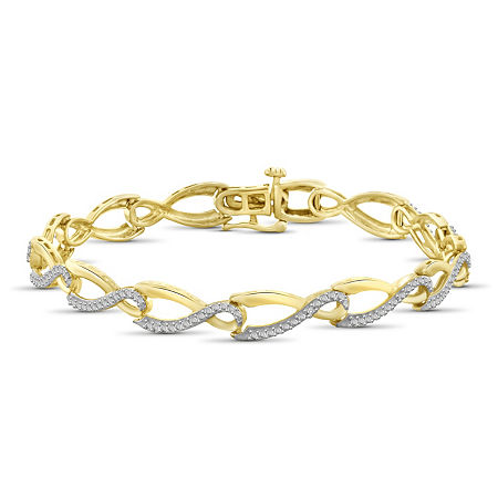 14K Gold Over Brass 7.5 Inch Solid Round Link Bracelet, One Size , No Color Family