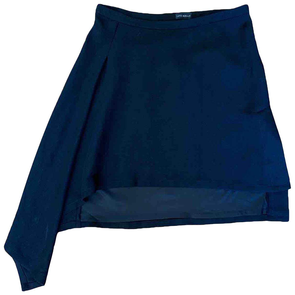 Lutz Huelle \N Black Linen skirt for Women 38 FR
