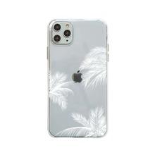 1pc Plants Print Clear iPhone Case