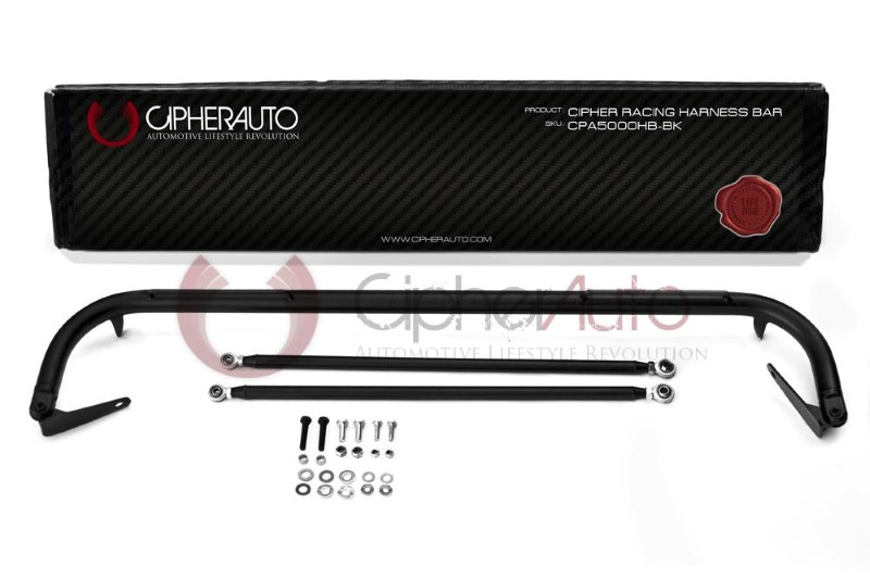 Cipher Auto CPA5008HB-BK Racing Harness Bar Black Powder Coated Lexus SC300|SC400 92-00