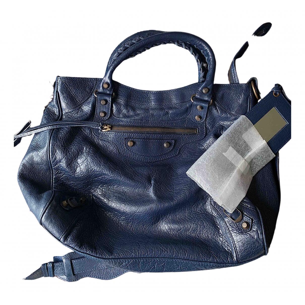 Balenciaga Vélo Blue Leather handbag for Women \N