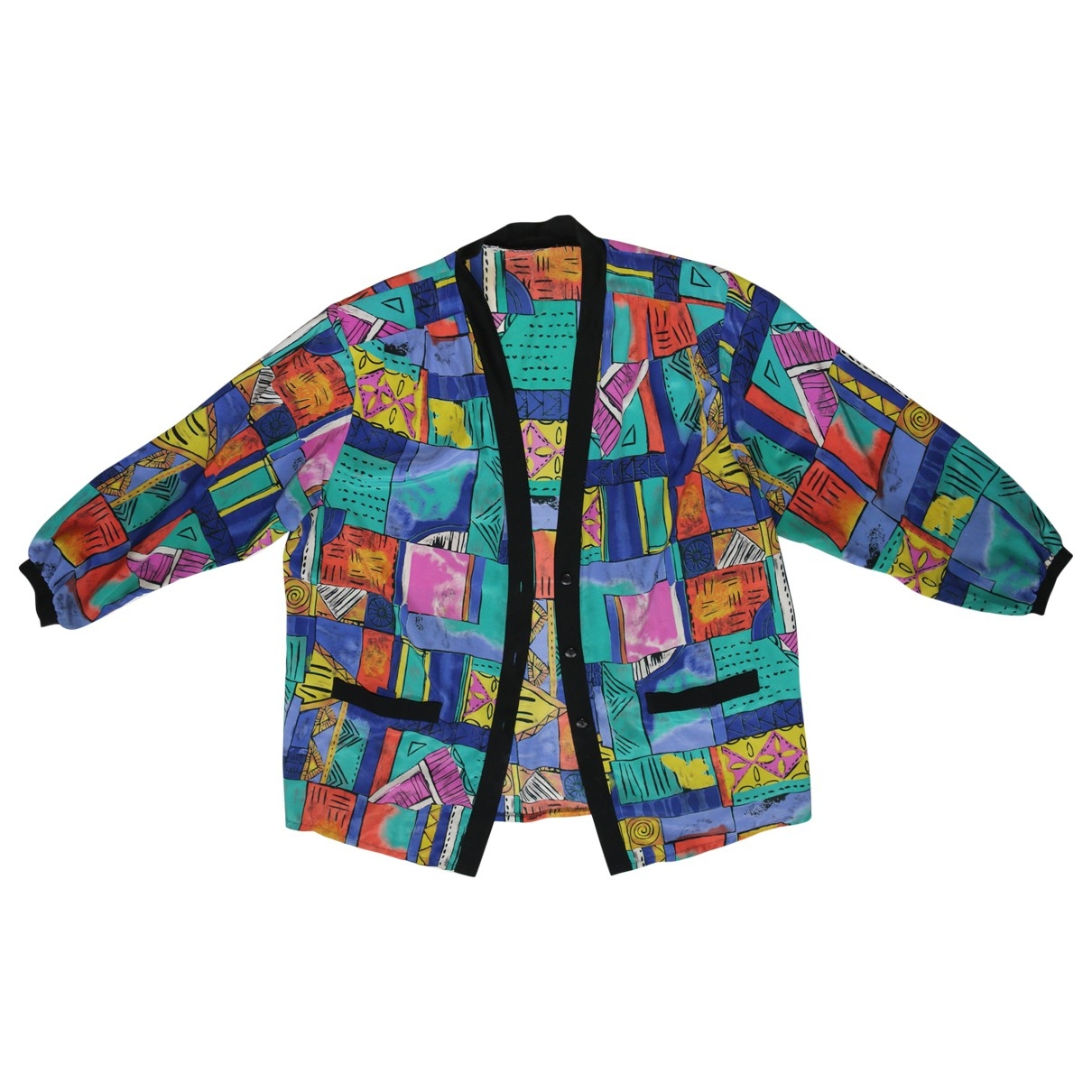 Non Signé / Unsigned Manche ballon Multicolour jacket for Women One Size International