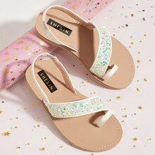 Toddler Girls Colorful Star Toe Post Slingbacks Sandals