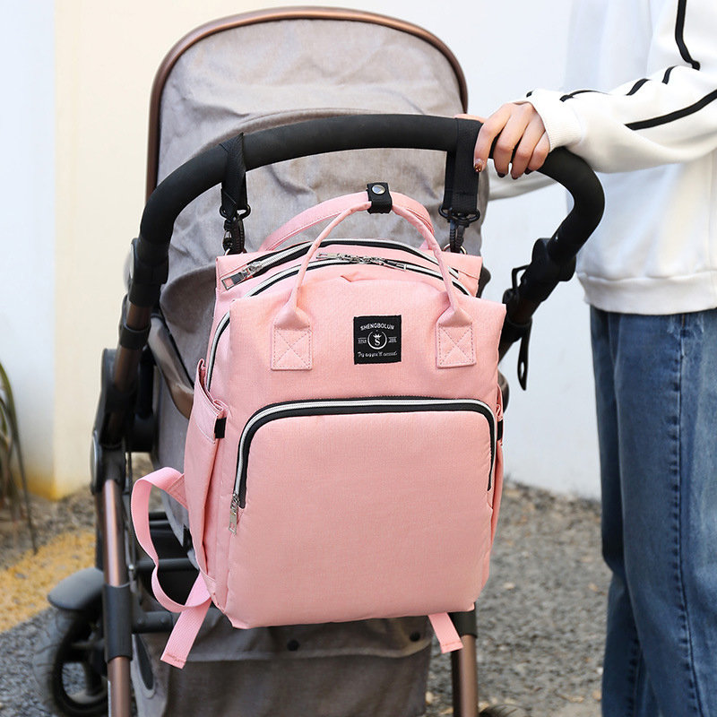 Women Canvas Casual Mummy And KidsPatchwork Backpack