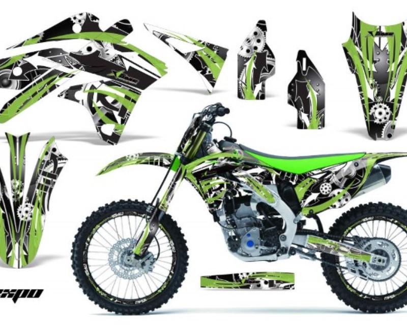 AMR Racing Graphics MX-NP-KAW-KX250F-13-16-EX G Kit Decal Sticker Wrap + # Plates For Kawasaki KXF250 2013-2016áEXPO GREEN