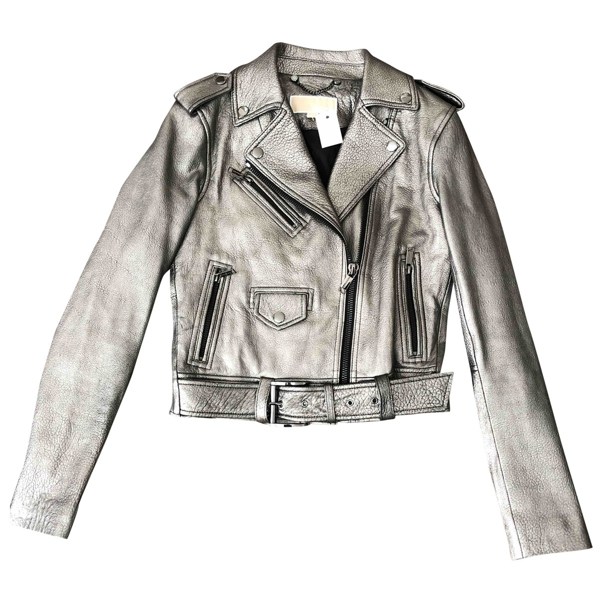 Michael Kors \N Anthracite Leather Leather jacket for Women XS International