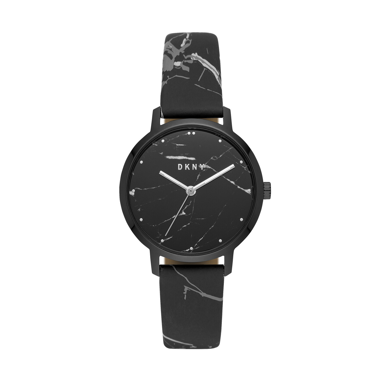 Dkny Women's The Modernist NY2715 Black Leather Quartz Fashion Watch